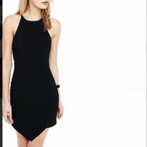 🏝3x$30🏝 Express Asymetrical Little Black Dress